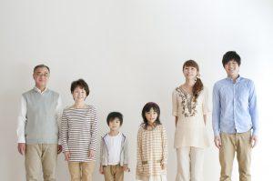 三世代家族の写真
